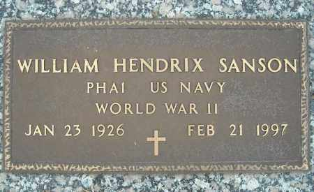 SANSON (VETERAN WWII), WILLIAM HENDRIX - Faulkner County, Arkansas | WILLIAM HENDRIX SANSON (VETERAN WWII) - Arkansas Gravestone Photos