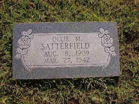 SATTERFIELD, OLLIE M. - Faulkner County, Arkansas | OLLIE M. SATTERFIELD - Arkansas Gravestone Photos