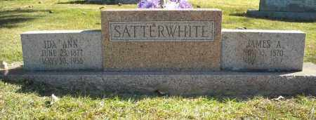 SATTERWHITE, JAMES A. - Faulkner County, Arkansas | JAMES A. SATTERWHITE - Arkansas Gravestone Photos