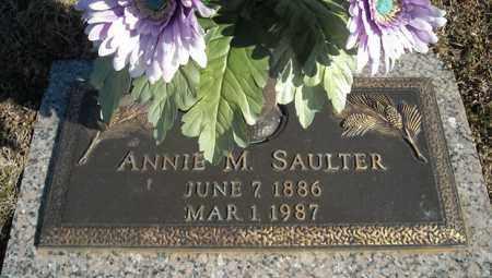 SAULTER, ANNIE M. - Faulkner County, Arkansas | ANNIE M. SAULTER - Arkansas Gravestone Photos