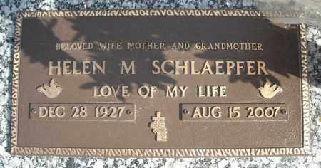 SCHLAEPFER, HELEN M. - Faulkner County, Arkansas   HELEN M. SCHLAEPFER - Arkansas Gravestone Photos