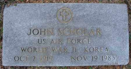 SCHOLAR (VETERAN 2 WARS), JOHN - Faulkner County, Arkansas | JOHN SCHOLAR (VETERAN 2 WARS) - Arkansas Gravestone Photos
