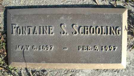 SCHOOLING, FONTAINE S. - Faulkner County, Arkansas | FONTAINE S. SCHOOLING - Arkansas Gravestone Photos