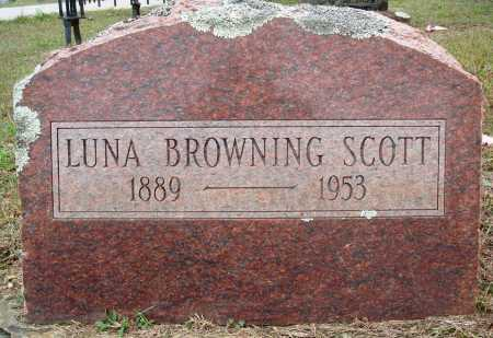 BROWNING SCOTT, LUNA - Faulkner County, Arkansas | LUNA BROWNING SCOTT - Arkansas Gravestone Photos