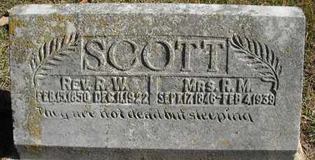 SCOTT, MRS., R.M. - Faulkner County, Arkansas | R.M. SCOTT, MRS. - Arkansas Gravestone Photos