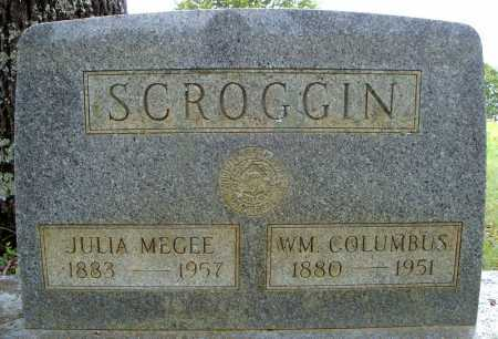 MEGEE SCROGGIN, JULIA - Faulkner County, Arkansas | JULIA MEGEE SCROGGIN - Arkansas Gravestone Photos