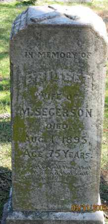 SEGERSON, BRIDGET - Faulkner County, Arkansas | BRIDGET SEGERSON - Arkansas Gravestone Photos