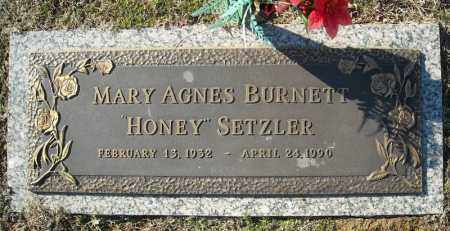 BURNETT SETZLER, MARY AGNES - Faulkner County, Arkansas | MARY AGNES BURNETT SETZLER - Arkansas Gravestone Photos