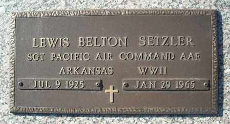 SETZLER (VETERAN WWII), LEWIS BELTON - Faulkner County, Arkansas | LEWIS BELTON SETZLER (VETERAN WWII) - Arkansas Gravestone Photos