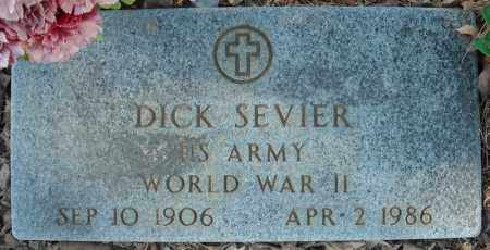 SEVIER (VETERAN WWII), DICK - Faulkner County, Arkansas | DICK SEVIER (VETERAN WWII) - Arkansas Gravestone Photos