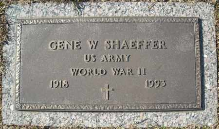 SHAEFFER (VETERAN WWII), GENE W - Faulkner County, Arkansas | GENE W SHAEFFER (VETERAN WWII) - Arkansas Gravestone Photos