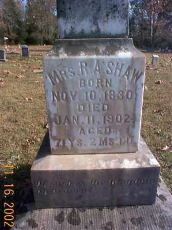 JACKSON SHAW, REBECCA - Faulkner County, Arkansas | REBECCA JACKSON SHAW - Arkansas Gravestone Photos
