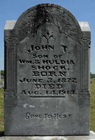 SHOCK, JOHN T. - Faulkner County, Arkansas | JOHN T. SHOCK - Arkansas Gravestone Photos