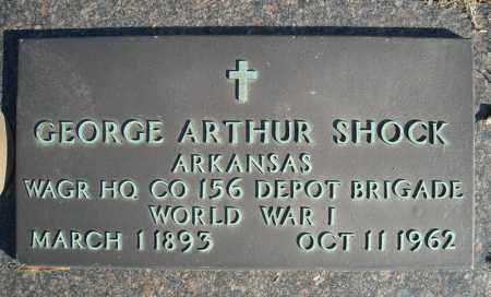 SHOCK (VETERAN WWI), GEORGE ARTHUR - Faulkner County, Arkansas | GEORGE ARTHUR SHOCK (VETERAN WWI) - Arkansas Gravestone Photos