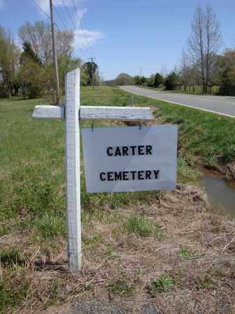 *CARTER CEMETERY SIGN 1,  - Faulkner County, Arkansas |  *CARTER CEMETERY SIGN 1 - Arkansas Gravestone Photos