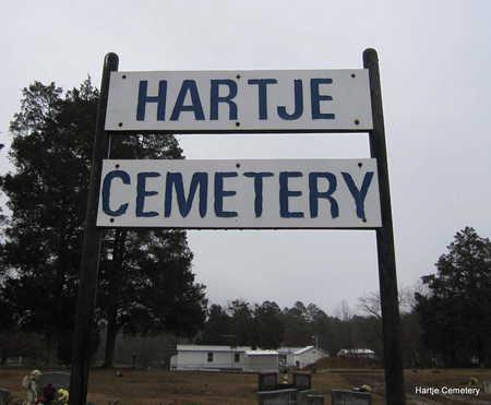 *HARTJE CEMETERY SIGN,  - Faulkner County, Arkansas |  *HARTJE CEMETERY SIGN - Arkansas Gravestone Photos