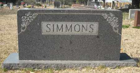 SIMMONS, FAMILY MARKER - Faulkner County, Arkansas | FAMILY MARKER SIMMONS - Arkansas Gravestone Photos