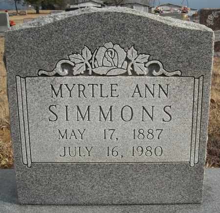 SIMMONS, MYRTLE ANN - Faulkner County, Arkansas | MYRTLE ANN SIMMONS - Arkansas Gravestone Photos