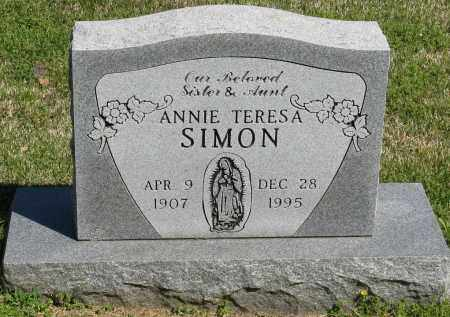 SIMON, ANNIE TERESA - Faulkner County, Arkansas | ANNIE TERESA SIMON - Arkansas Gravestone Photos