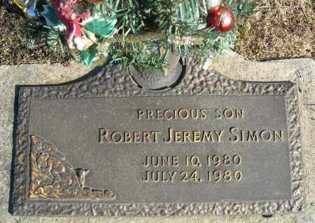 SIMON, ROBERT JEREMY - Faulkner County, Arkansas | ROBERT JEREMY SIMON - Arkansas Gravestone Photos