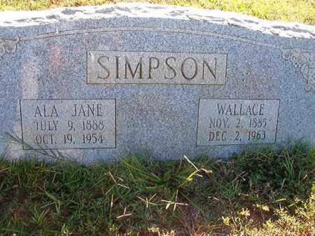 SIMPSON, ALA JANE - Faulkner County, Arkansas | ALA JANE SIMPSON - Arkansas Gravestone Photos