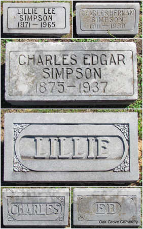 SIMPSON, CHARLES EDGAR - Faulkner County, Arkansas | CHARLES EDGAR SIMPSON - Arkansas Gravestone Photos