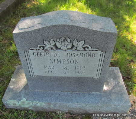 ROSAMOND SIMPSON, GERTRUDE - Faulkner County, Arkansas | GERTRUDE ROSAMOND SIMPSON - Arkansas Gravestone Photos