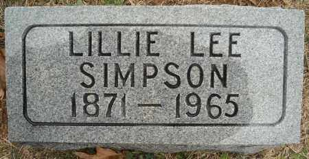 LEE SIMPSON, LILLIE (CLOSE UP) - Faulkner County, Arkansas | LILLIE (CLOSE UP) LEE SIMPSON - Arkansas Gravestone Photos