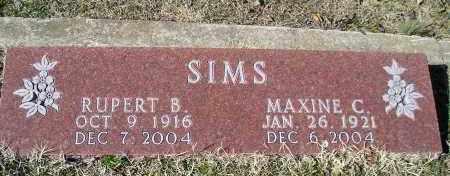 SIMS, RUPERT B. - Faulkner County, Arkansas | RUPERT B. SIMS - Arkansas Gravestone Photos