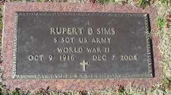 SIMS (VETERAN WWII), RUPERT B - Faulkner County, Arkansas | RUPERT B SIMS (VETERAN WWII) - Arkansas Gravestone Photos