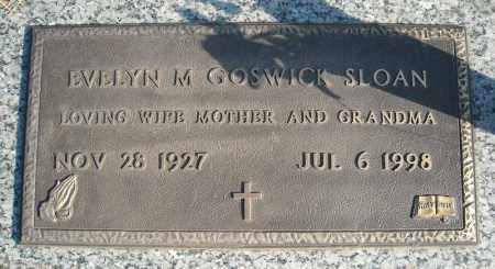 GOSWICK SLOAN, EVELYN M. - Faulkner County, Arkansas | EVELYN M. GOSWICK SLOAN - Arkansas Gravestone Photos