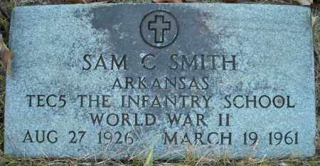 SMITH  (VETERAN WWII), SAM C - Faulkner County, Arkansas | SAM C SMITH  (VETERAN WWII) - Arkansas Gravestone Photos
