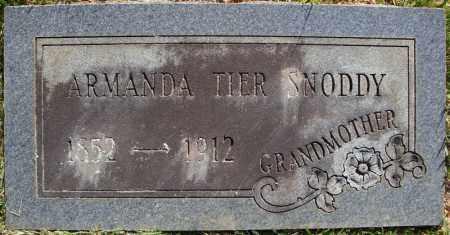TIER SNODDY, ARMANDA - Faulkner County, Arkansas | ARMANDA TIER SNODDY - Arkansas Gravestone Photos