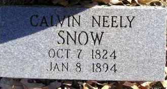 SNOW, CALVIN NEELY - Faulkner County, Arkansas | CALVIN NEELY SNOW - Arkansas Gravestone Photos