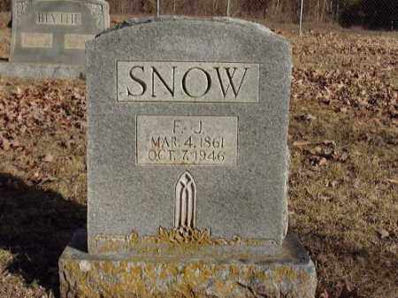 SNOW, F. J. - Faulkner County, Arkansas | F. J. SNOW - Arkansas Gravestone Photos