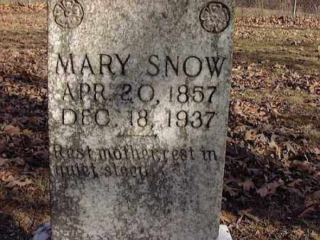 SNOW, MARY - Faulkner County, Arkansas | MARY SNOW - Arkansas Gravestone Photos