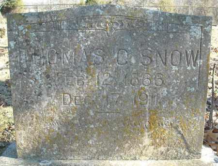 SNOW, THOMAS C. - Faulkner County, Arkansas | THOMAS C. SNOW - Arkansas Gravestone Photos