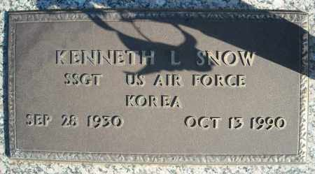 SNOW (VETERAN KOR), KENNETH L - Faulkner County, Arkansas | KENNETH L SNOW (VETERAN KOR) - Arkansas Gravestone Photos