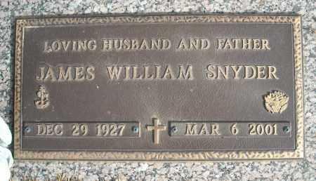 SNYDER (VETERAN), JAMES WILLIAM - Faulkner County, Arkansas | JAMES WILLIAM SNYDER (VETERAN) - Arkansas Gravestone Photos