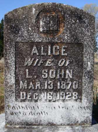 SOHN, ALICE - Faulkner County, Arkansas | ALICE SOHN - Arkansas Gravestone Photos