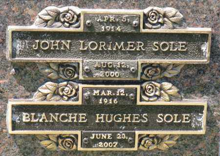 SOLE, JOHN LORIMER - Faulkner County, Arkansas | JOHN LORIMER SOLE - Arkansas Gravestone Photos