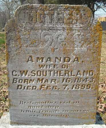 SOTHERLAND, AMANDA - Faulkner County, Arkansas | AMANDA SOTHERLAND - Arkansas Gravestone Photos