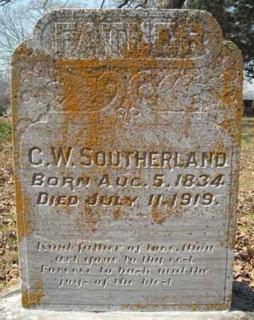 SOUTHERLAND, C. W. - Faulkner County, Arkansas | C. W. SOUTHERLAND - Arkansas Gravestone Photos