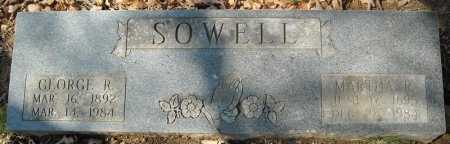 SOWELL, MARTHA R. - Faulkner County, Arkansas | MARTHA R. SOWELL - Arkansas Gravestone Photos
