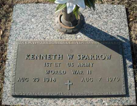 SPARROW (VETERAN WWII), KENNETH W - Faulkner County, Arkansas | KENNETH W SPARROW (VETERAN WWII) - Arkansas Gravestone Photos