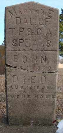 SPEARS, MARTHA E. - Faulkner County, Arkansas | MARTHA E. SPEARS - Arkansas Gravestone Photos