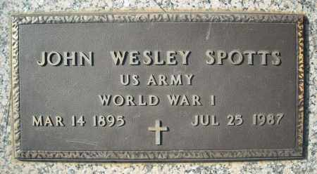 SPOTTS (VETERAN WWI), JOHN WESLEY - Faulkner County, Arkansas | JOHN WESLEY SPOTTS (VETERAN WWI) - Arkansas Gravestone Photos