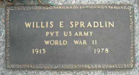 SPRADLIN (VETERAN WWII), WILLIS E - Faulkner County, Arkansas | WILLIS E SPRADLIN (VETERAN WWII) - Arkansas Gravestone Photos