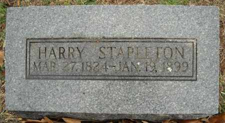 STAPLETON, HARRY - Faulkner County, Arkansas | HARRY STAPLETON - Arkansas Gravestone Photos
