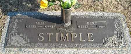 STIMPLE, BERT - Faulkner County, Arkansas | BERT STIMPLE - Arkansas Gravestone Photos
